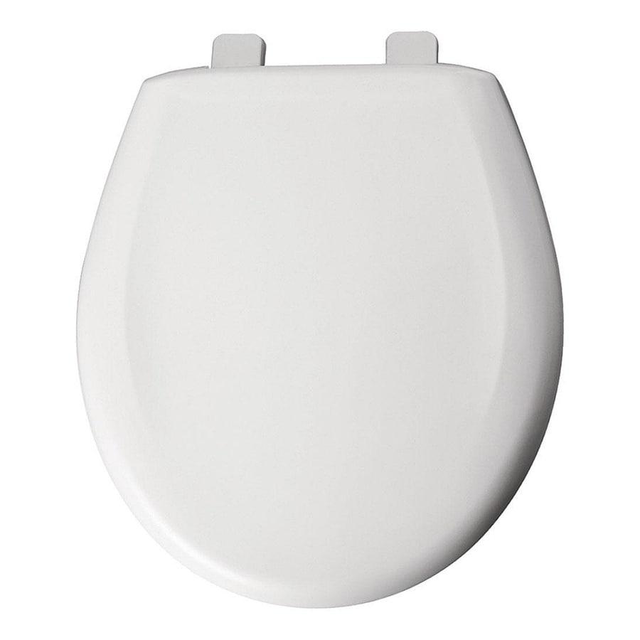 Bemis White Plastic Elongated Slow Close Toilet Seat