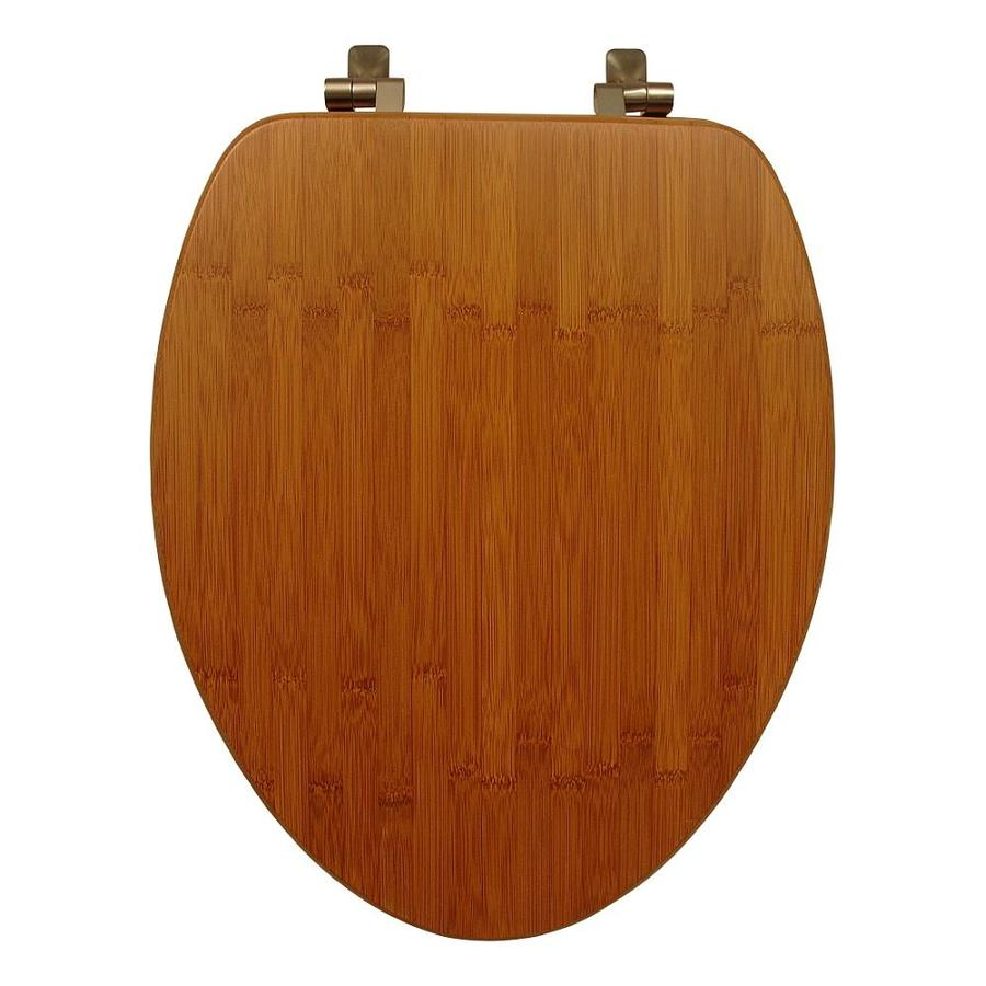 Mayfair Bamboo Wood Elongated Toilet Seat
