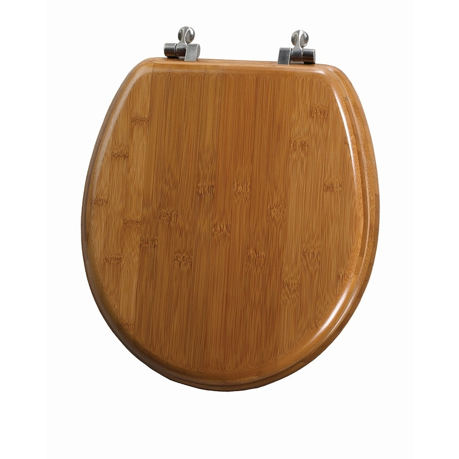 Mayfair Bamboo Wood Round Toilet Seat