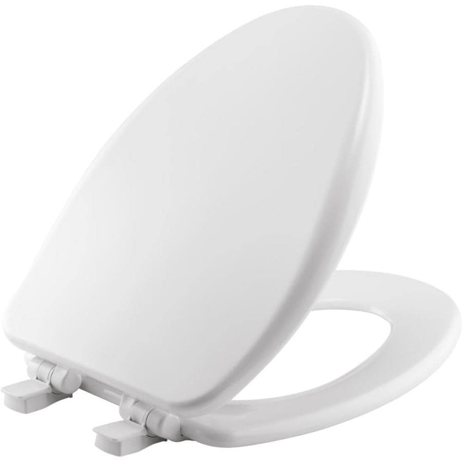 wooden soft close toilet seat white. Church Wood Elongated Slow Close Toilet Seat Shop at Lowes com