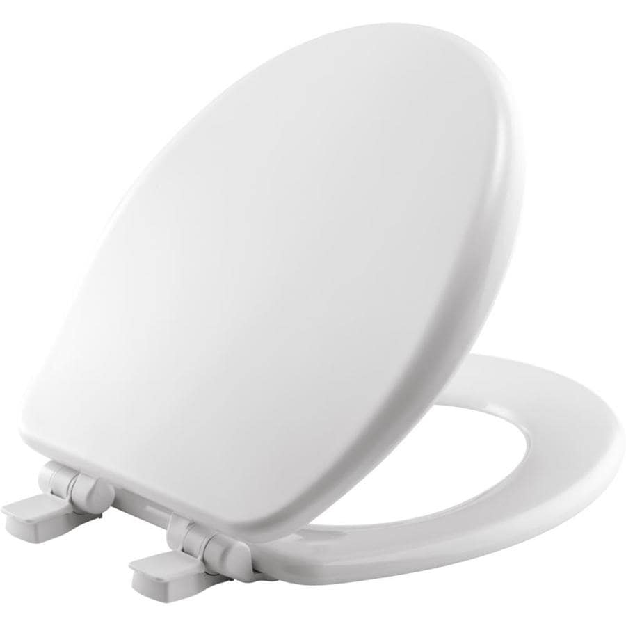 white wooden soft close toilet seat. Church Wood Round Slow Close Toilet Seat Shop at Lowes com