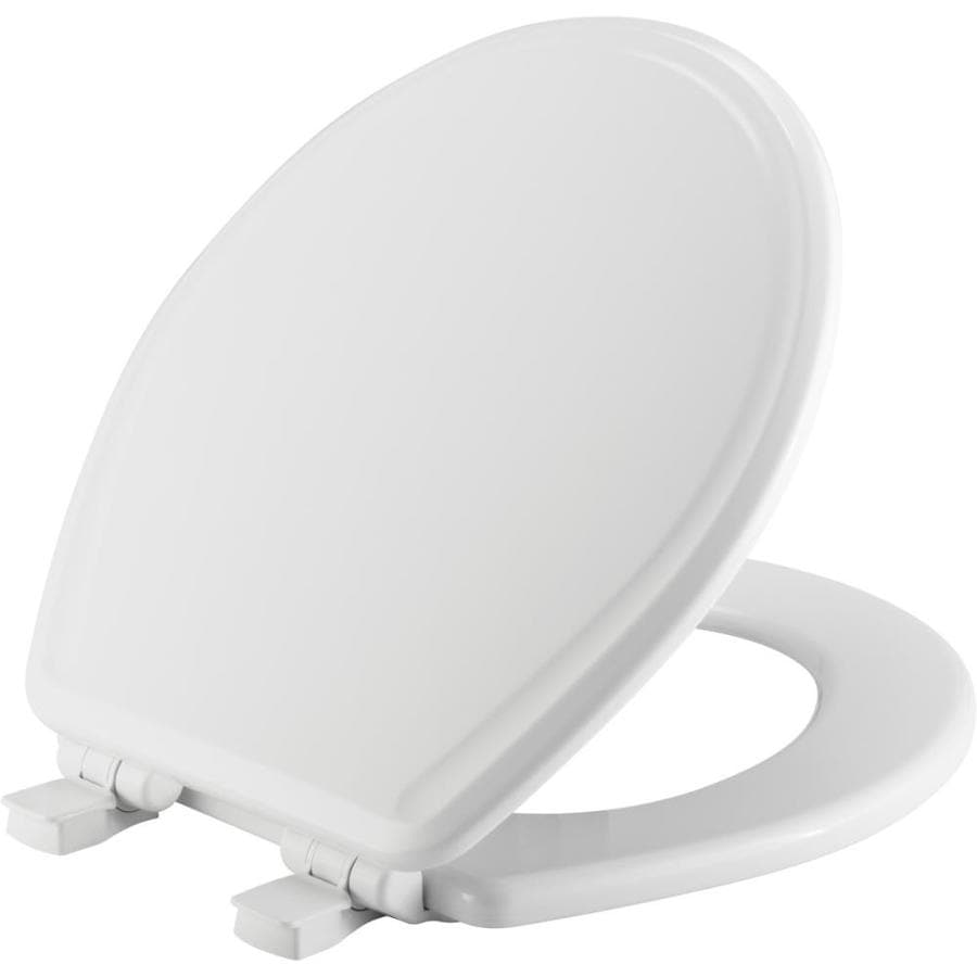 Church White Wood Round Slow Close Toilet Seat