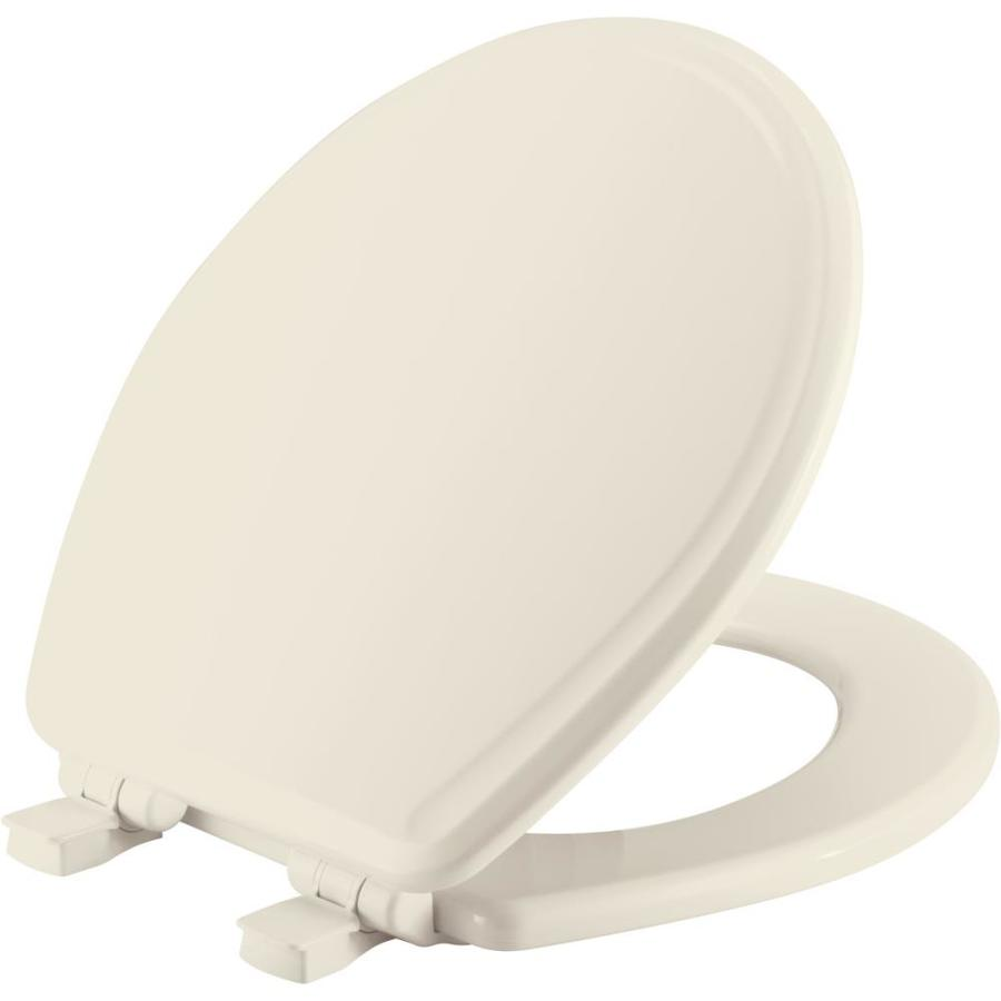Church Biscuit Wood Round Slow Close Toilet Seat