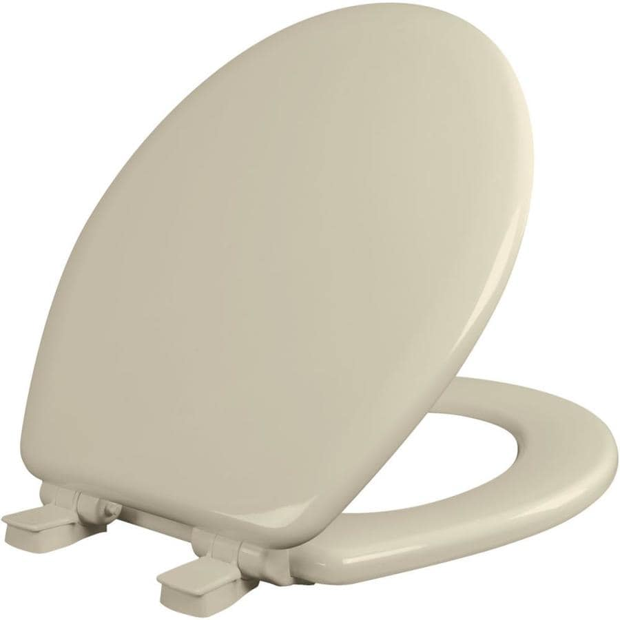 Bemis NextStep Bone Wood Round Slow-Close Toilet Seat