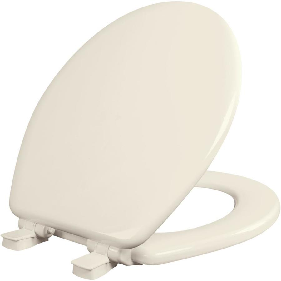Bemis NextStep Wood Round Slow-Close Toilet Seat