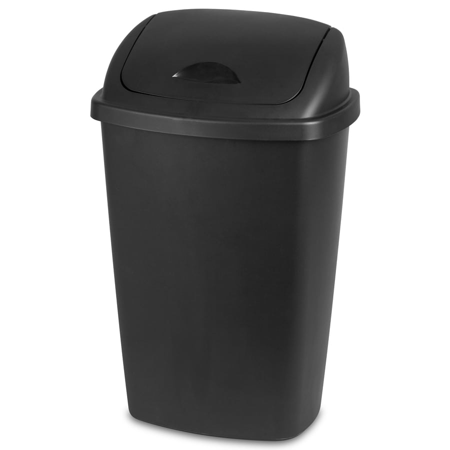 Sterilite Corporation Black Wastebasket