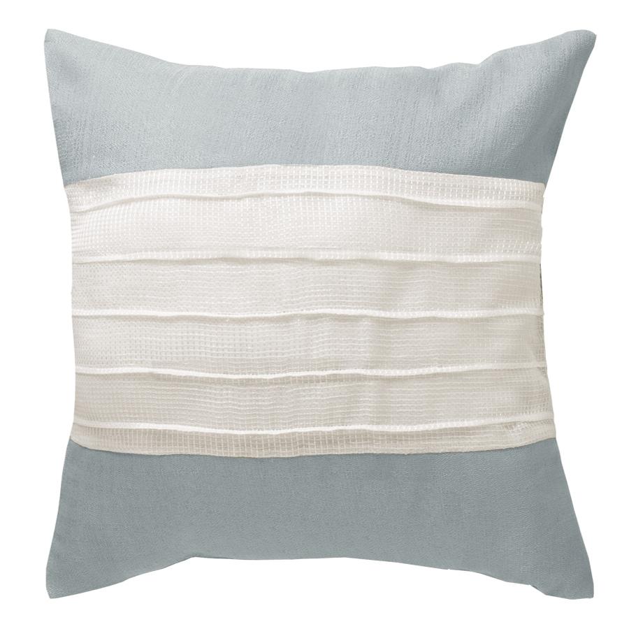 allen + roth 18-in W x 18-in L Blue Square Decorative Pillow Cover