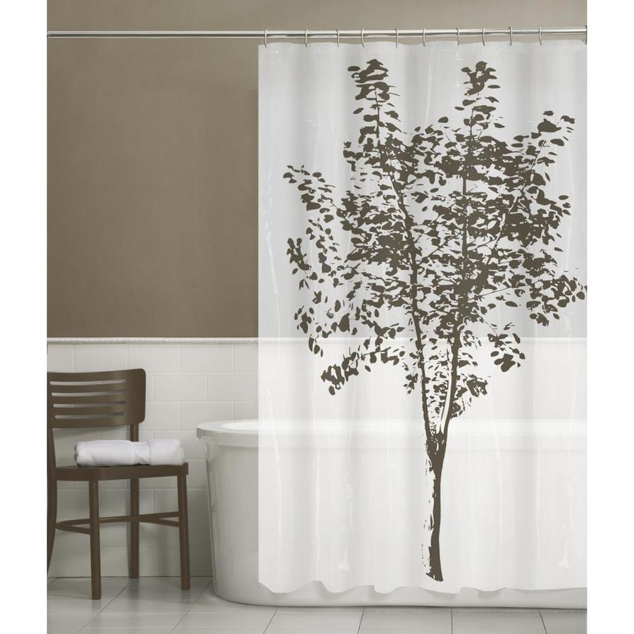 EVA PEVA Tree Brown Patterned Shower Curtain