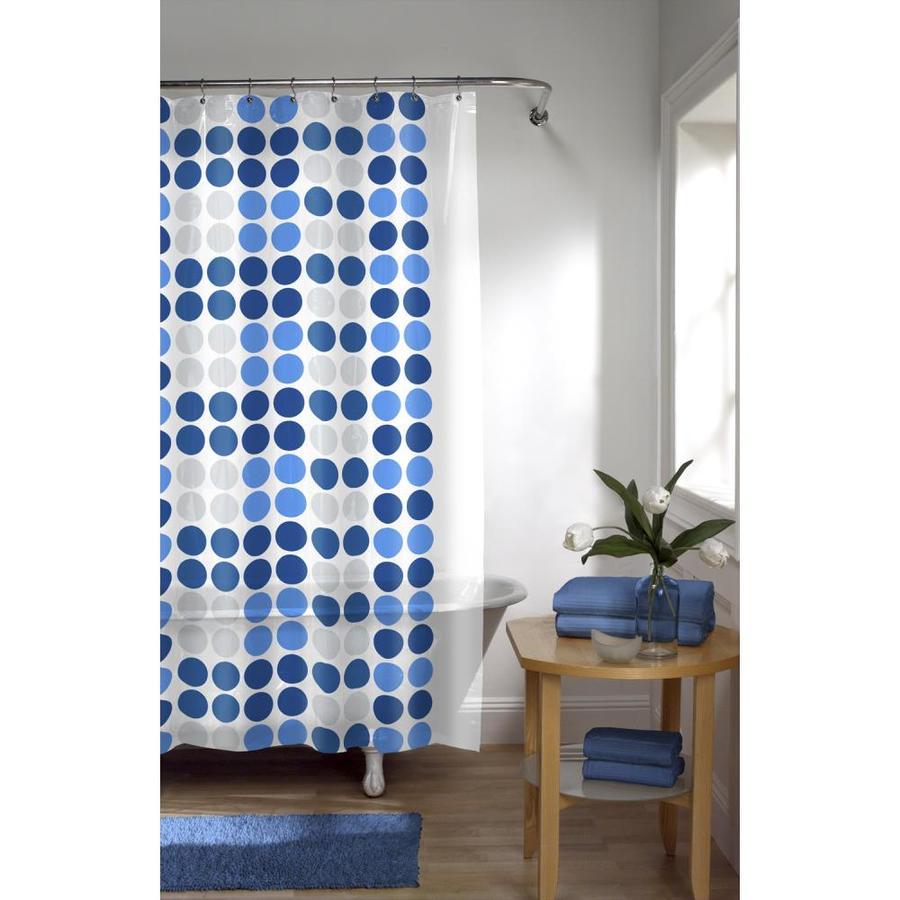 EVA/PEVA Dots/blue Patterned Shower curtain