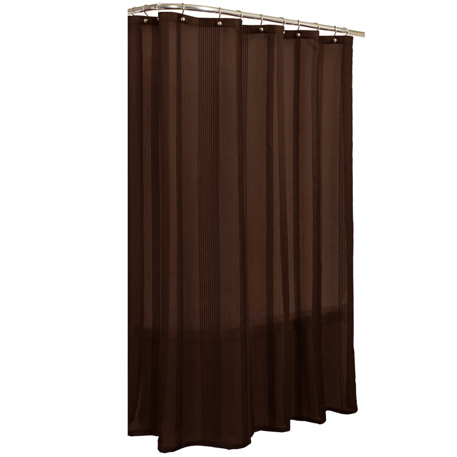 allen + roth Wessington Polyester Brown Striped Shower Curtain