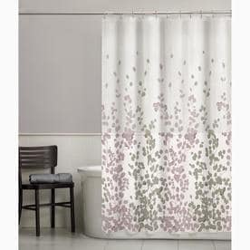 Polyester Floral Purple Shower Curtain
