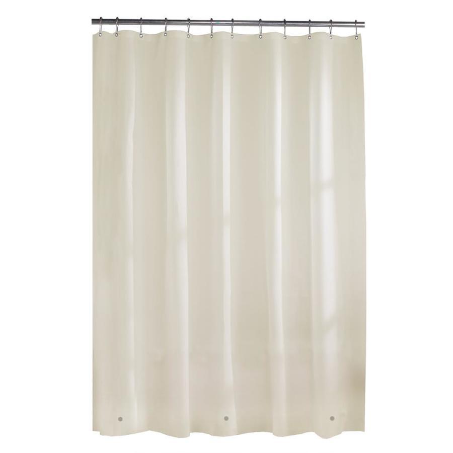 Shop style selections vinyl solid linen solid shower liner for Bathroom liner
