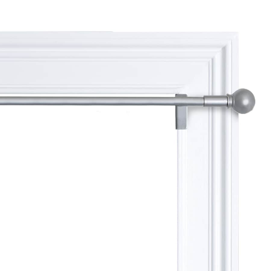 Shop 48 In To 84 In Brushed Nickel Steel Single Curtain Rod At