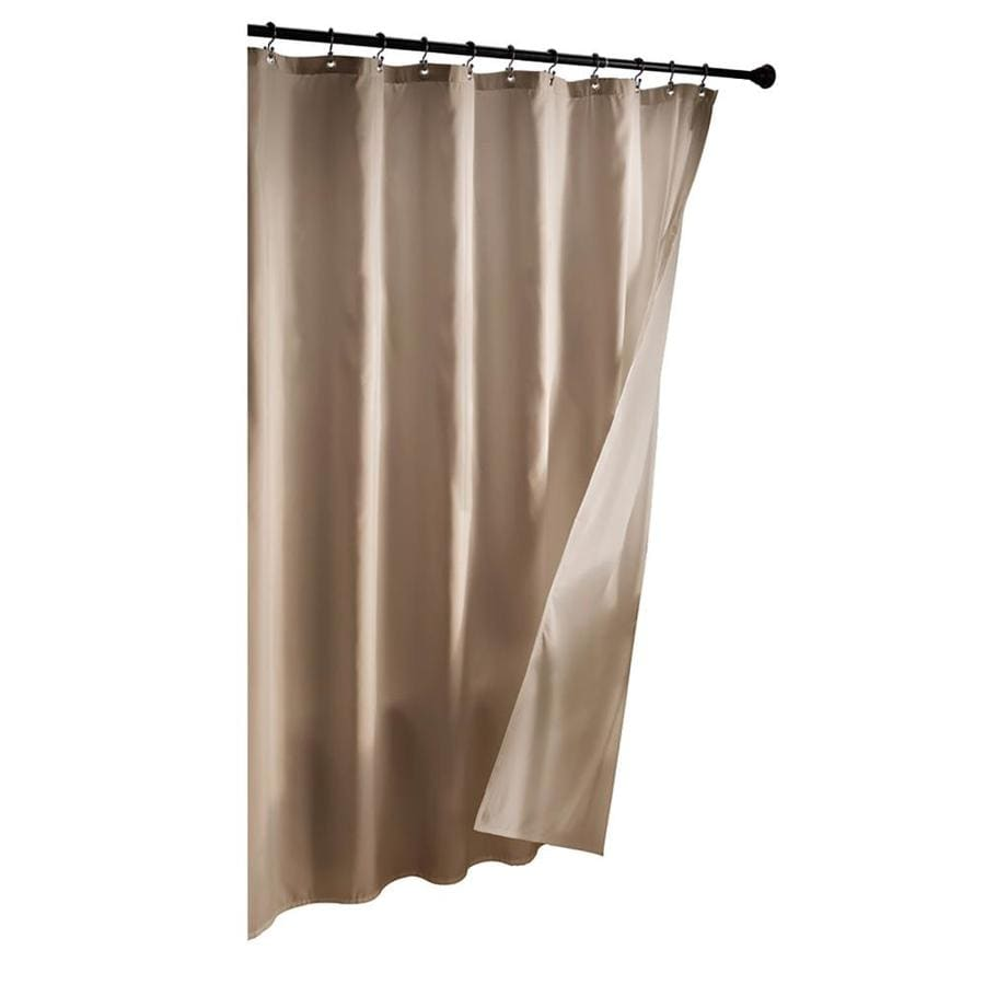 double it curtain magnets with shower polyester chrome its rings translucent and raised snap h beige window flex poly s liner on x a hookless voile