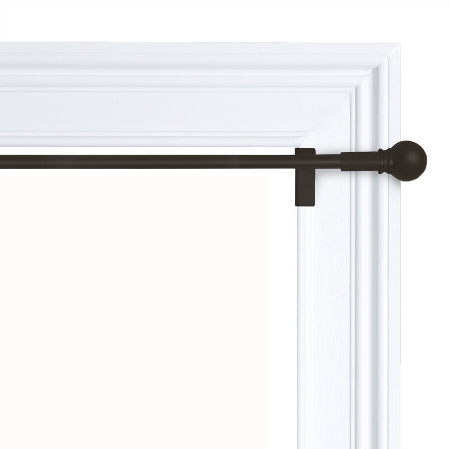 28-in to 48-in Oil-Rubbed Bronze Steel Single Curtain Rod
