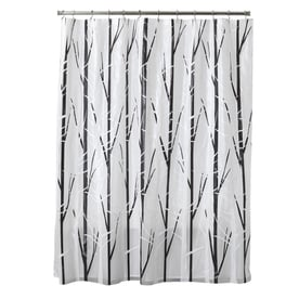 Style Selections Eva Peva Black White Patterneded Shower Curtain 70 In X 72
