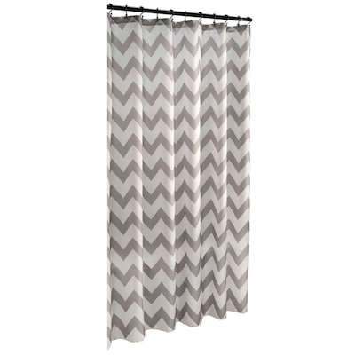 Polyester Grey Geometric Shower Curtain 70 In X 72