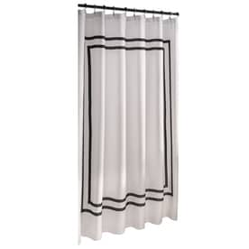 Allen + Roth Polyester White Solid Shower Curtain 70 In X 72 In