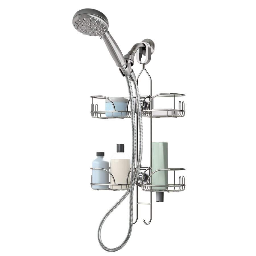 Shop 26.25-in H Over-the-Showerhead Steel Hanging Shower Caddy at ...