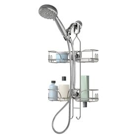 2625in h steel hanging shower caddy