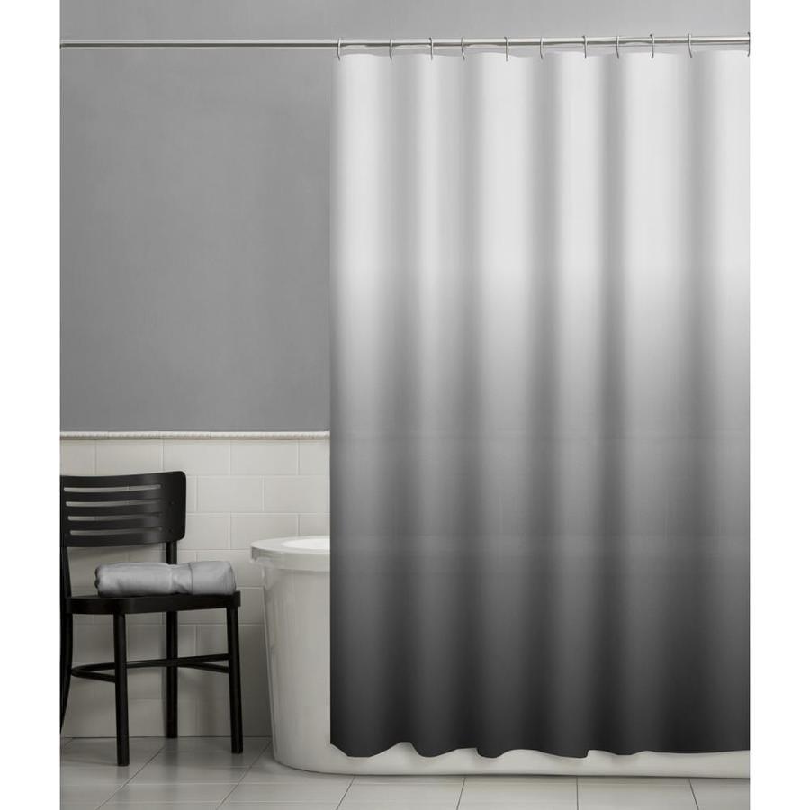 EVA/PEVA Ombre/black Solid Shower curtain
