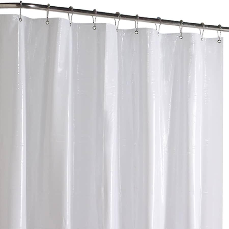 Shop project source vinyl white solid shower liner at for Bathroom liner