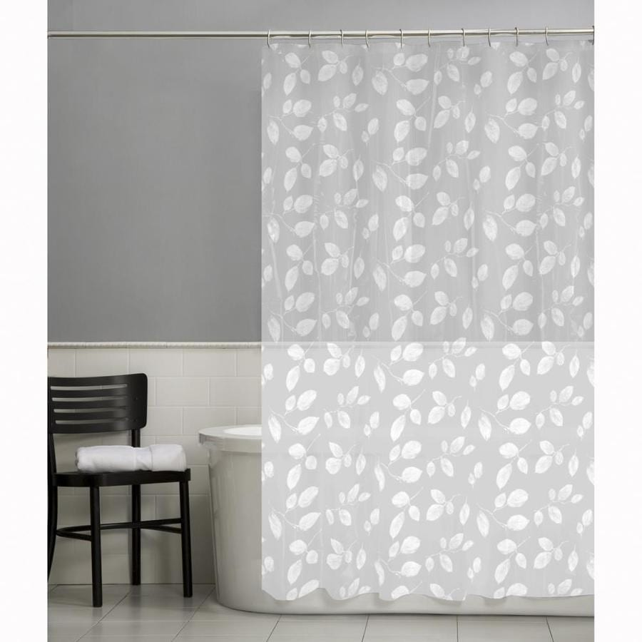 70W X 72L Just Leaves Shower Curtain At Lowes
