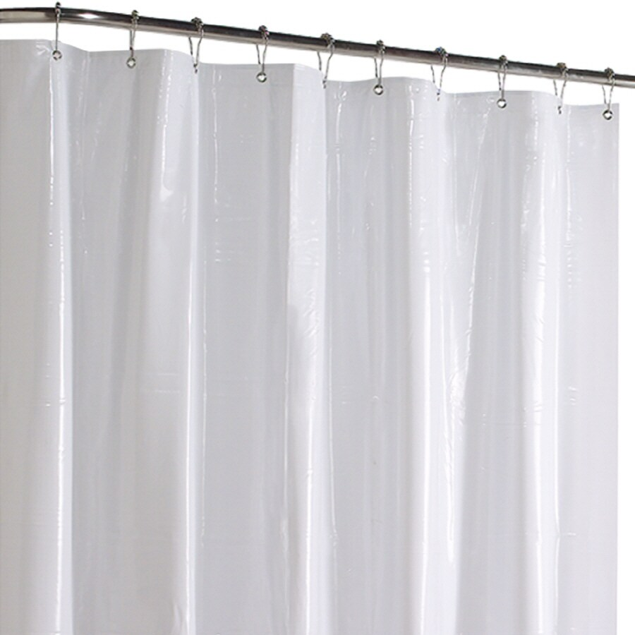 Style Selections Vinyl White Solid Shower Liner