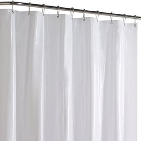Style Selections Vinyl Solid Shower Liner