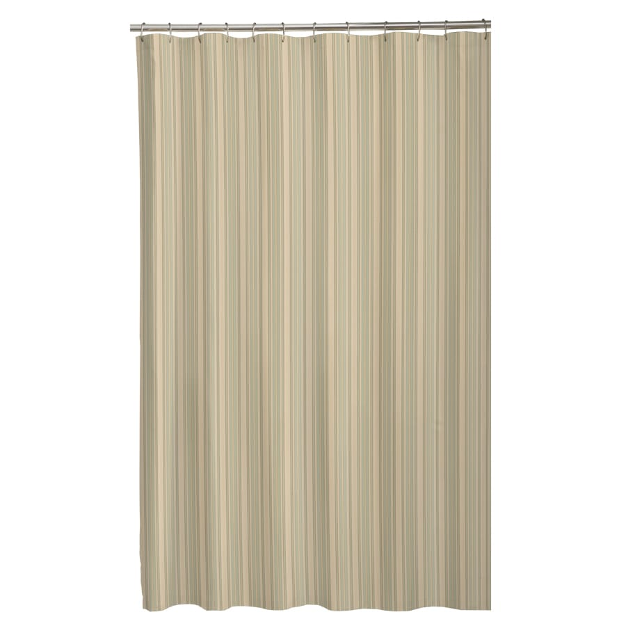 Sorrento Polyester Stripe Sage Striped Shower Curtain