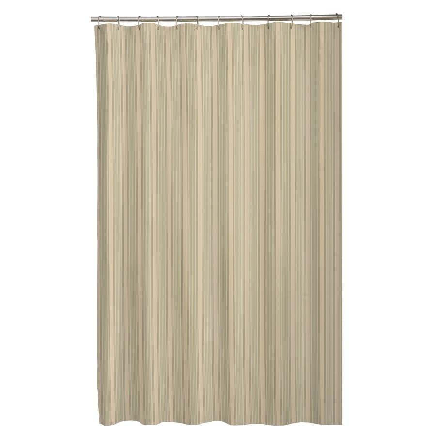 Sorrento Polyester Stripe Sage Striped Shower Curtain