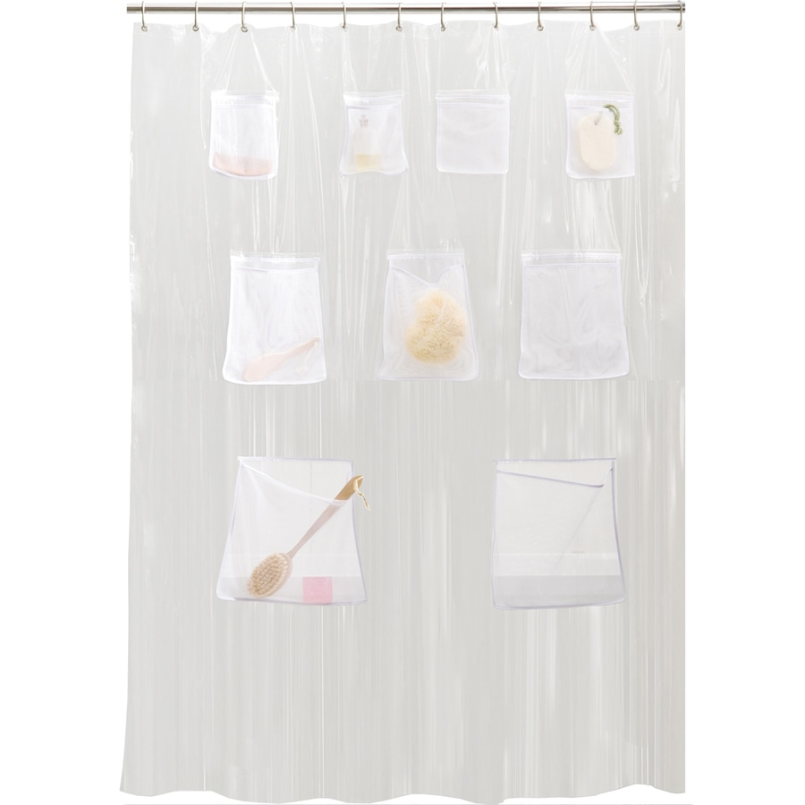 Bathroom plastic curtains - Style Selections Eva Peva Clear Solid Solid Shower Curtain