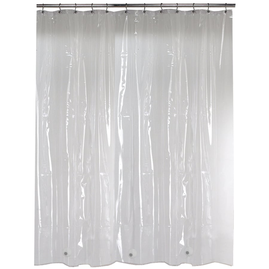 Style Selections Eva Peva Solid Clear Shower Liner 72 In X 70