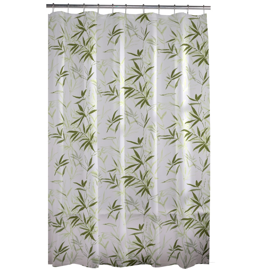 Style Selections EVA/PEVA Floral Green Floral Shower Curtain