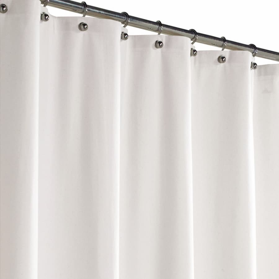 Style Selections Polyester White Solid Shower Curtain 70 In X 72