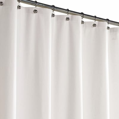 Polyester White Solid Shower Curtain 70 In X 72