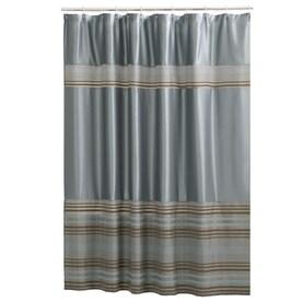 mark polyester stripeblue striped shower curtain