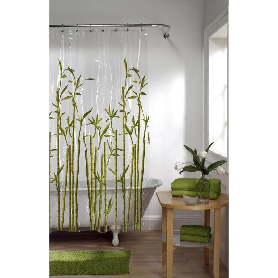 EVA/PEVA Photoreal/green Pictorial Shower curtain