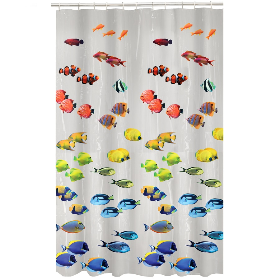 Style selections eva peva print multi fish shower curtain at lowes com - Style Selections Eva Peva Print Multi Fish Shower Curtain