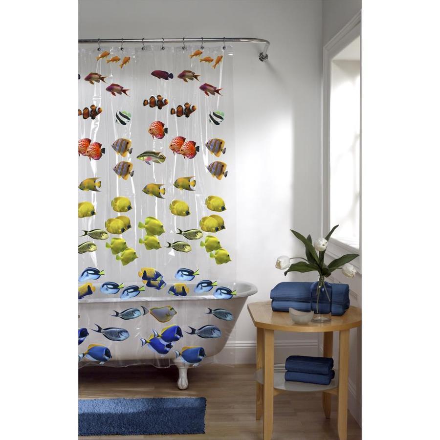 EVA PEVA Fish Multi Shower Curtain
