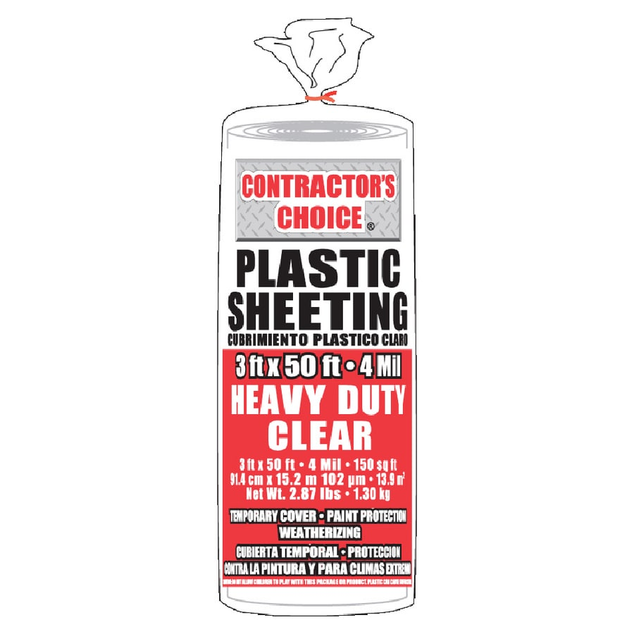Contractor's Choice 3-ft x 50-ft x 4-mil Clear Consumer Sheeting