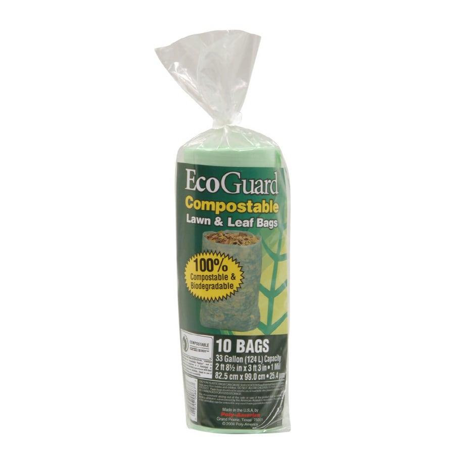 Eco Guard 10 Count 33 Gallon Biodegradable Compole Trash Bags