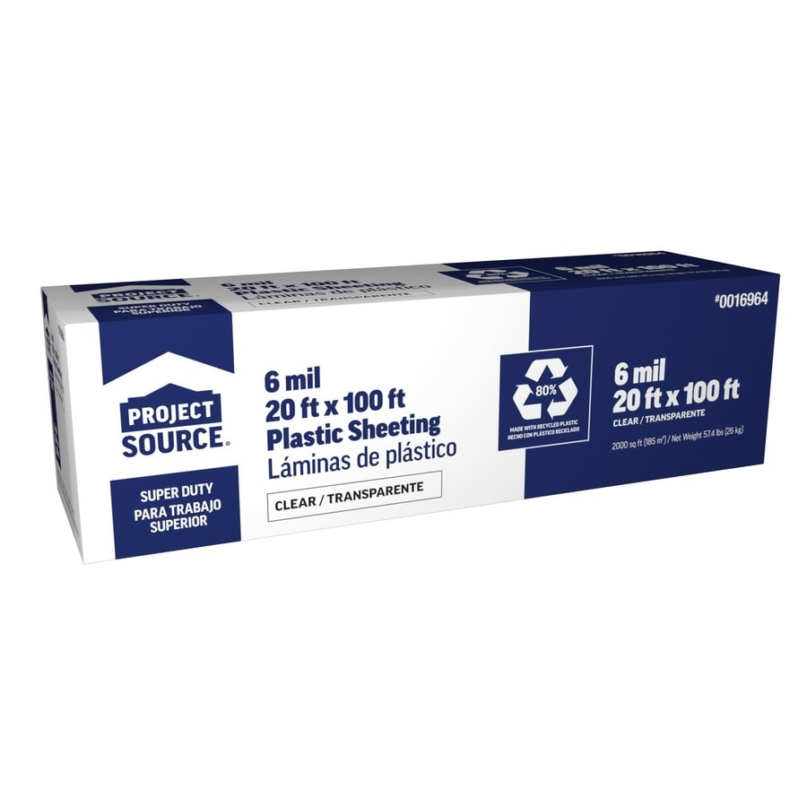 20-ft x 100-ft x 6-mil Clear Plastic Sheeting