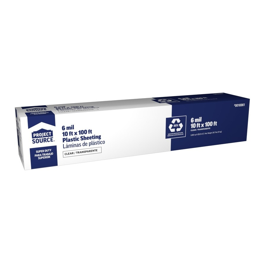10 Ft X 100 Clear 6 Mil Plastic Sheeting