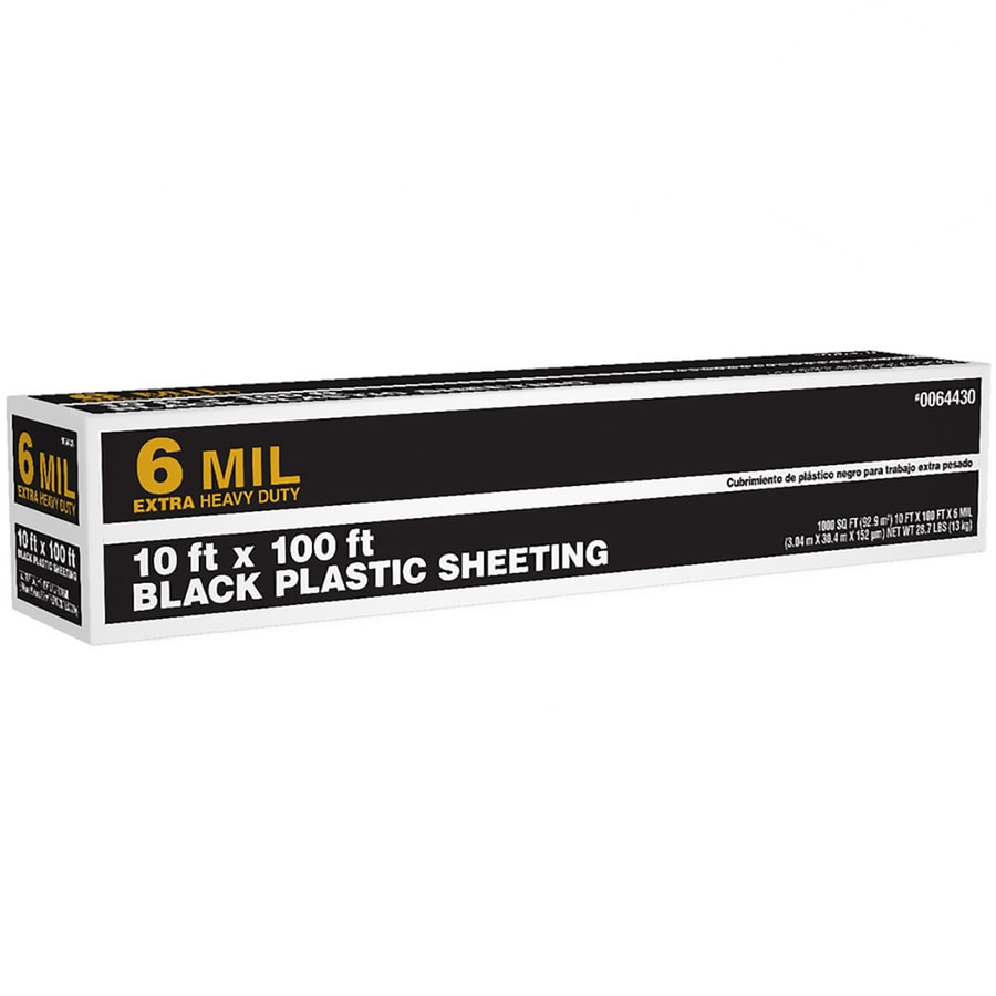 10 Ft X 100 Black 6 Mil Plastic Sheeting