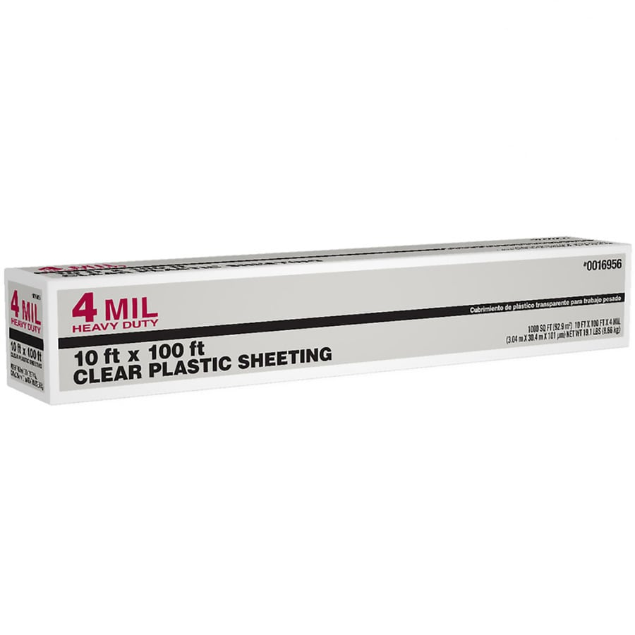 10-ft x 100-ft x 4-mil Clear Plastic Sheeting