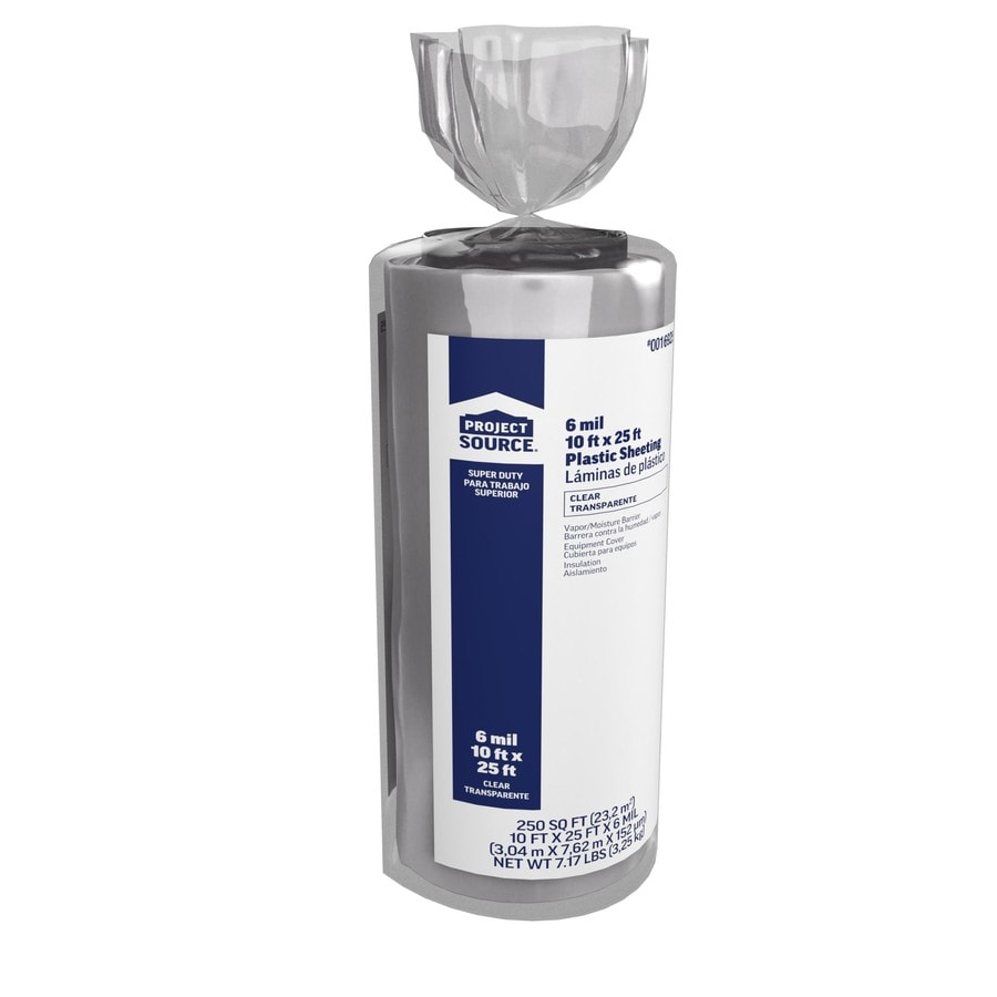 10-ft x 25-ft x 6-mil Clear Consumer Sheeting