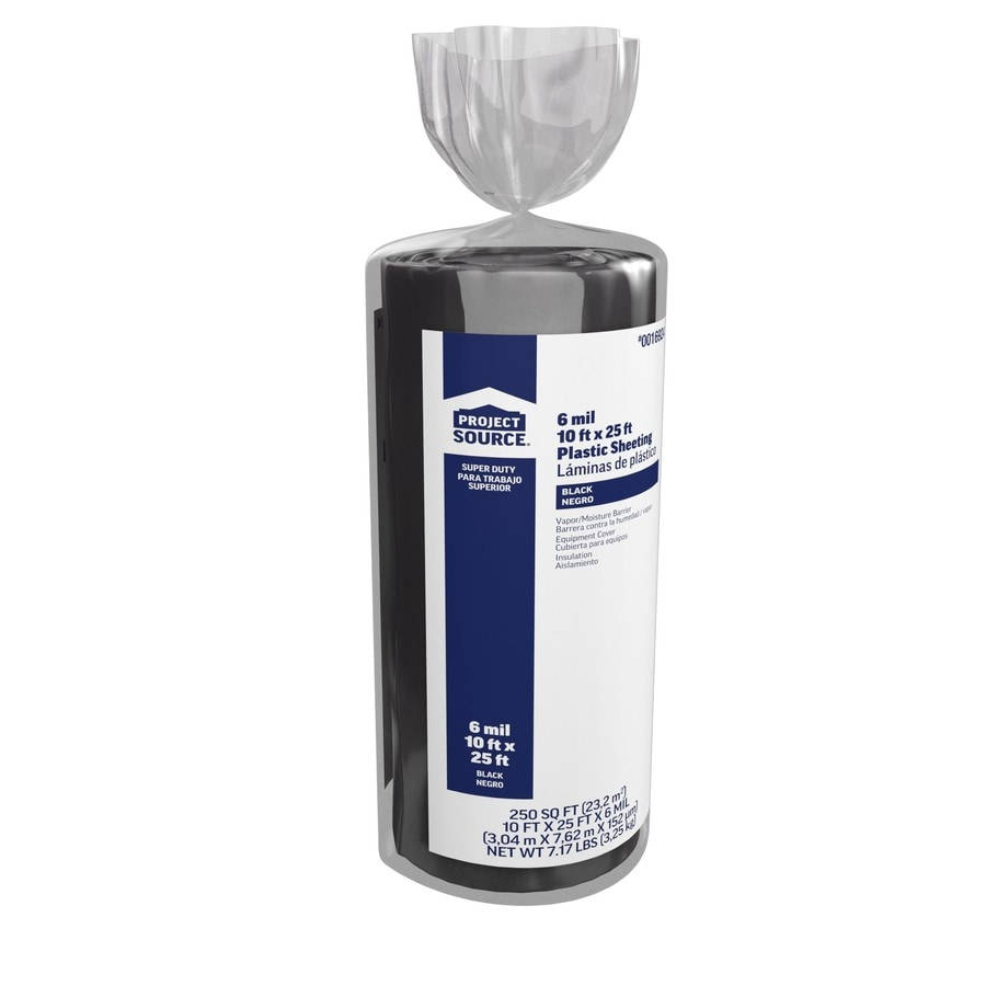 10-ft x 25-ft x 6-mil Black Consumer Sheeting