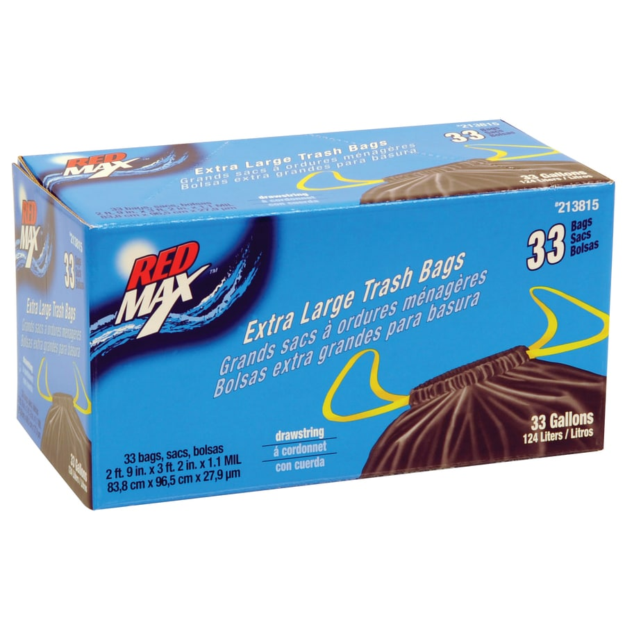 shop max 33 count 33 gallon outdoor trash bags at