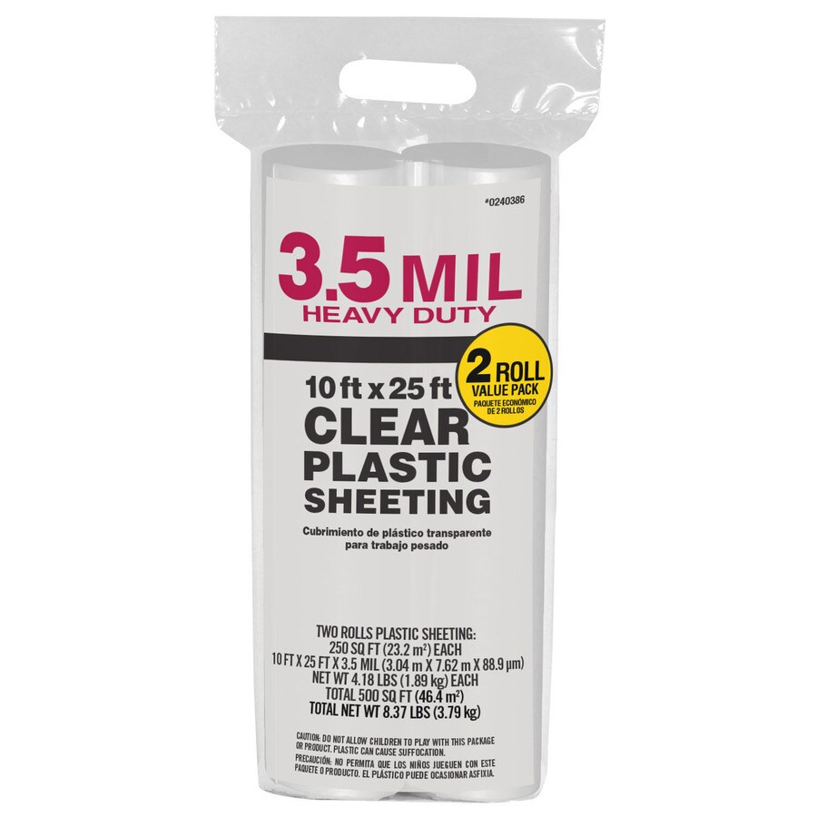 10-ft x 25-ft x 3.5-mil Clear Consumer Sheeting